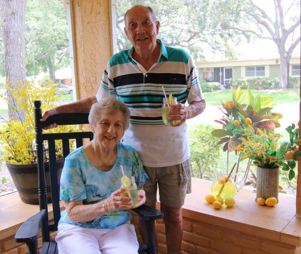 seniors on front porch